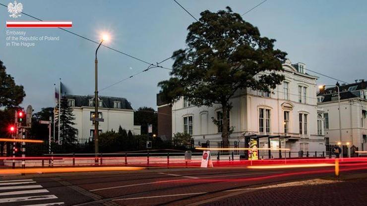 Haga: mężczyzna groził samospaleniem w polskiej ambasadzie