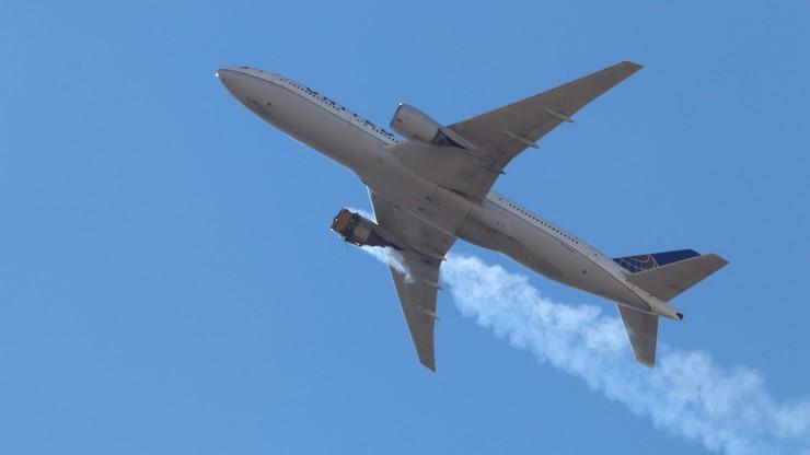 Pożar silnika Boeinga 777. Producent zalecił wstrzymanie lotów tego modelu