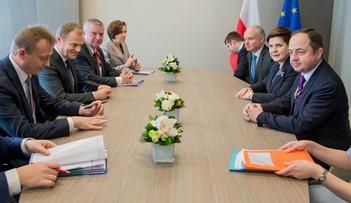 Spotkanie Szydło-Tusk w Brukseli. Nieoficjalnie: nie rozmawiano o TK i Komisji Weneckiej