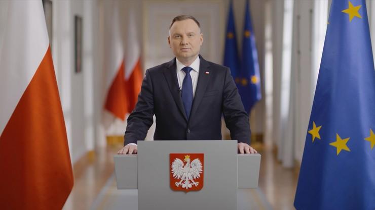 """Orędzie prezydenta Andrzeja Dudy. """"Państwo polskie to my"""""""