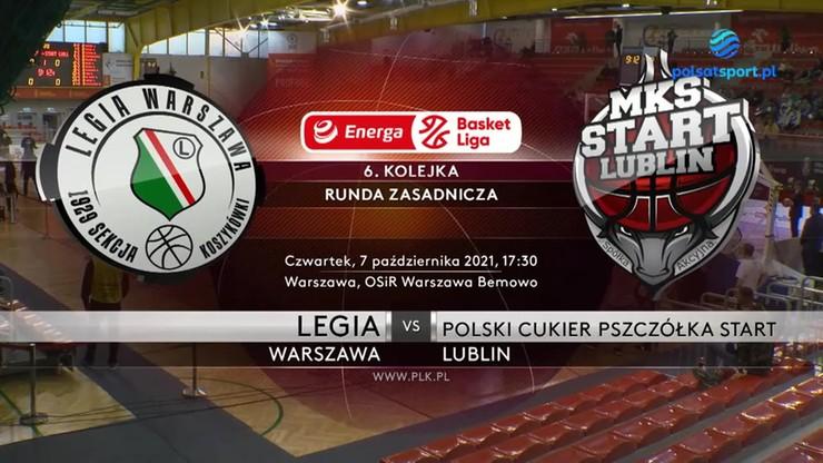 Legia Warszawa - Polski Cukier Pszczółka Start Lublin. Skrót meczu
