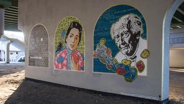 Zdewastowano mural przedstawiający Zygmunta Baumana. Autor obrazu: zamalujemy wizerunek profesora