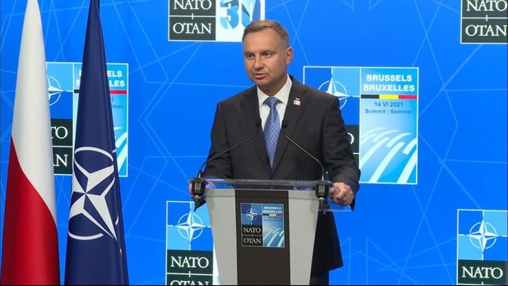 Prezydent Duda w Brukseli: NATO wysyła światu jasny sygnał