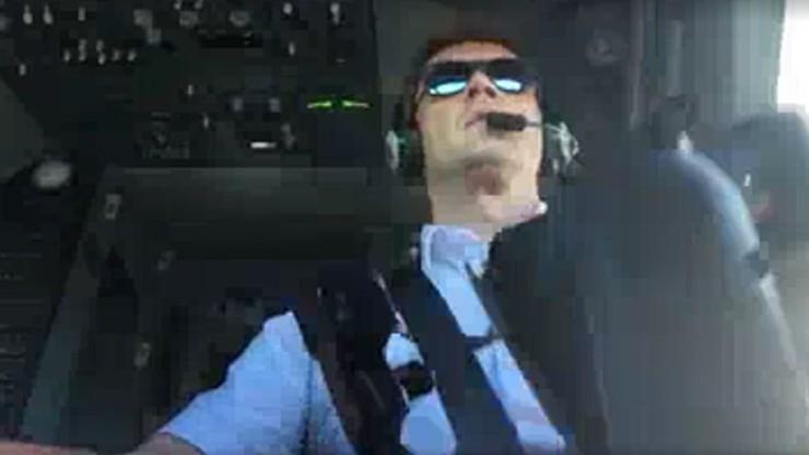 Polski pilot walczy z podmuchami wiatru. To wideo podbija sieć