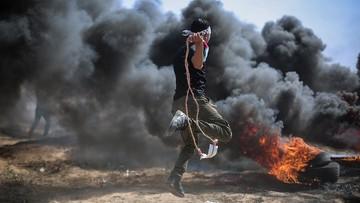Atak lotnictwa izraelskiego w Strefie Gazy. Palestyńczycy odpowiedzieli wystrzeleniem 50 rakiet