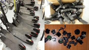 Skradziono 60 elektrycznych hulajnóg wartych 190 tys. zł. Podejrzani w rękach policji