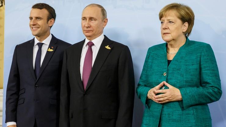 """""""Realizacja porozumień mińskich stanęła w miejscu"""". Putin, Merkel i Macron o kryzysie na Ukrainie"""