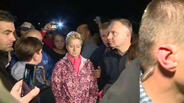 Andrzej Duda odwiedził zalane tereny