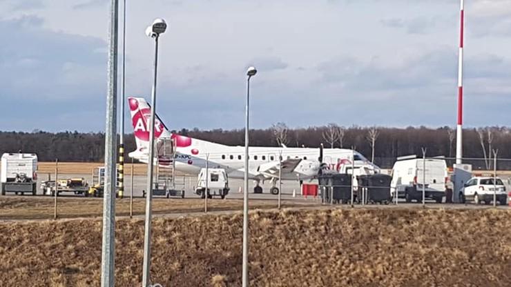 Awaryjne lądowanie w Lublinie. Na pokładzie samolotu byli siatkarze Resovii Rzeszów