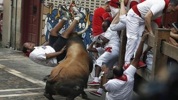 Podczas gonitwy w Pampelunie byki wzięły na rogi sześć osób