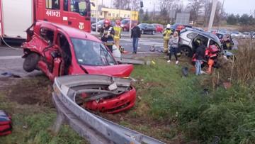 Tragiczny wypadek na Śląsku. Dwie osoby nie żyją, w akcji śmigłowce LPR