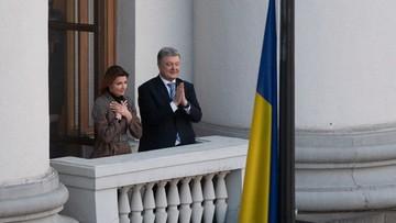 """Kilka tysięcy ludzi podziękowało Poroszence za prezydenturę. """"Nie wycofuję się z polityki"""""""