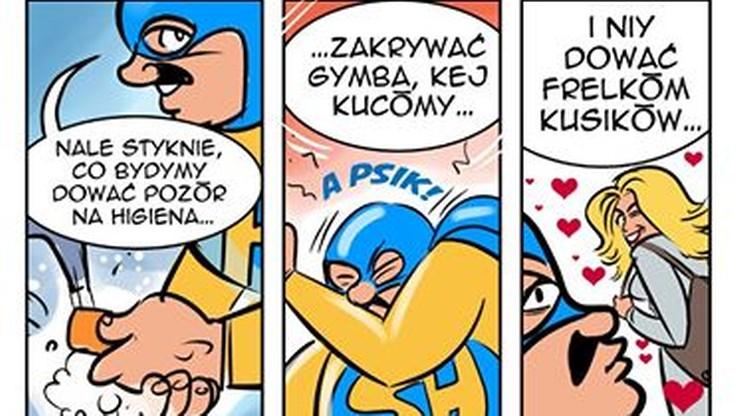 """""""Zakrywej gymba kej kucosz"""". Śląski superbohater radzi ws. koronawirusa"""