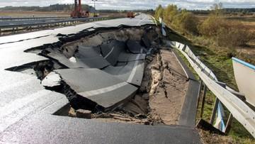 Niemiecka autostrada prowadząca do Szczecina zamknięta. Zapadła się część trasy