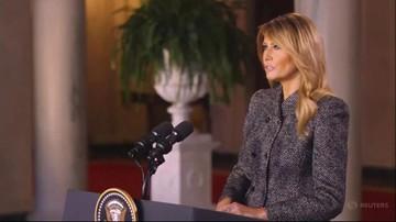 Melania Trump opuszcza Biały Dom. Pożegnała się z Amerykanami