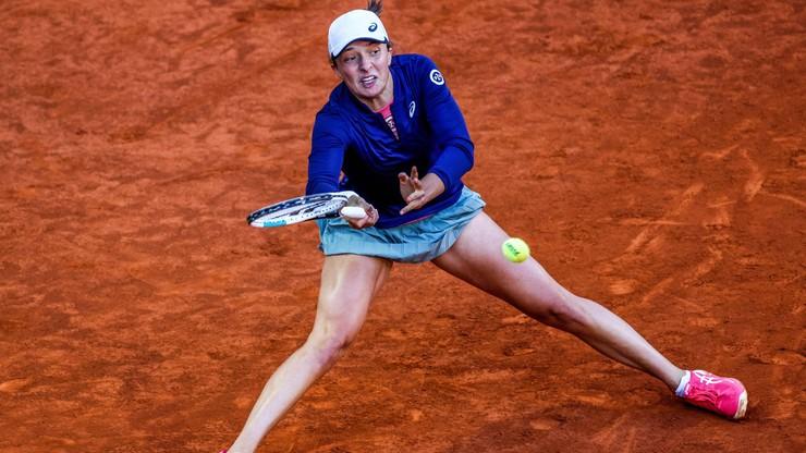 WTA w Rzymie: Świątek w 2. rundzie po kreczu rywalki