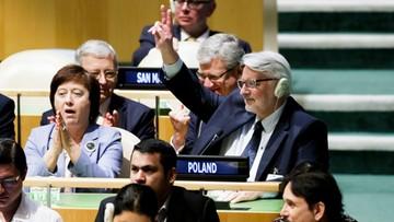 """""""Historyczny sukces polskiej dyplomacji"""". Polska niestałym członkiem Rady Bezpieczeństwa ONZ"""
