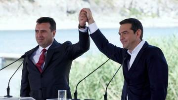 """Ateny i Skopje podpisały porozumienie ws. nazwy Macedonii. """"Patrzymy w przyszłość"""""""