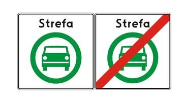Dwa nowe znaki drogowe dot. stref czystego transportu. Za ich nieprzestrzeganie grozi mandat
