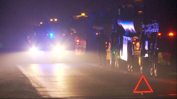 MON po wypadku amerykańskiej ciężarówki: kierowca jechał za szybko