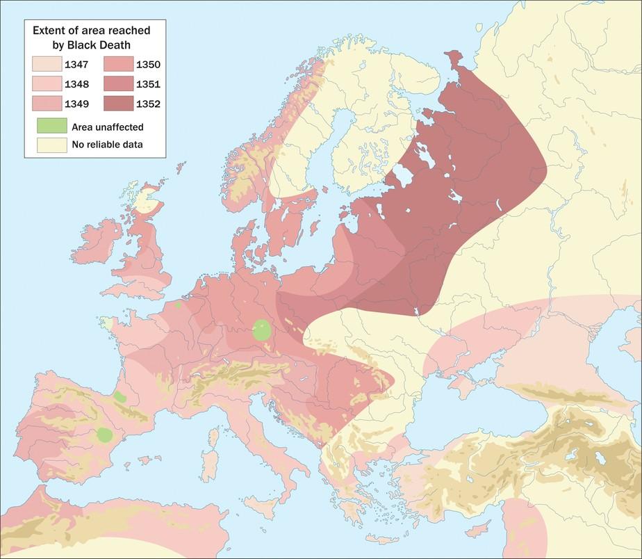 Mapa rozprzestrzeniania się