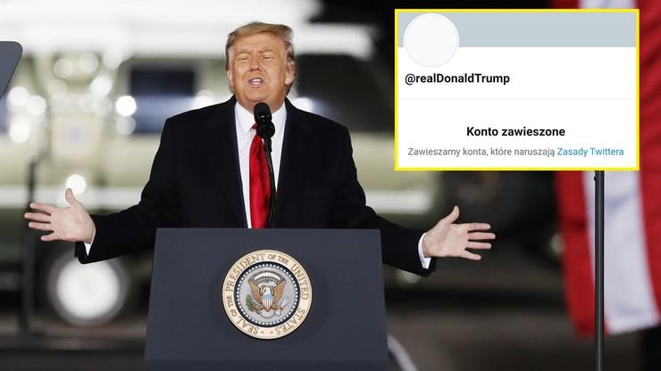 Prezydent USA Donald Trump na stałe zablokowany na Twitterze