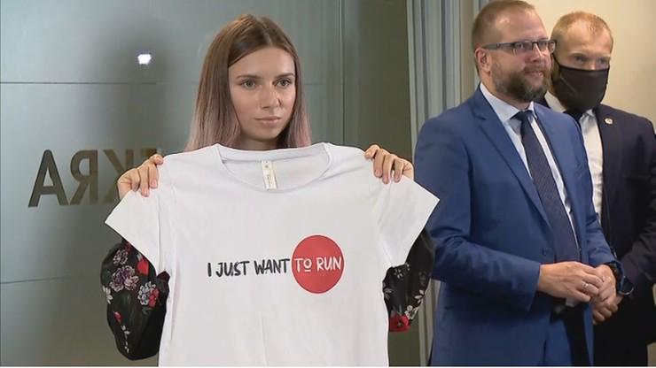 Kryscina Cimanouska: cieszę się, że tu jestem, że jestem bezpieczna