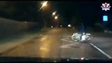 Pijany wiózł na skuterze… rower