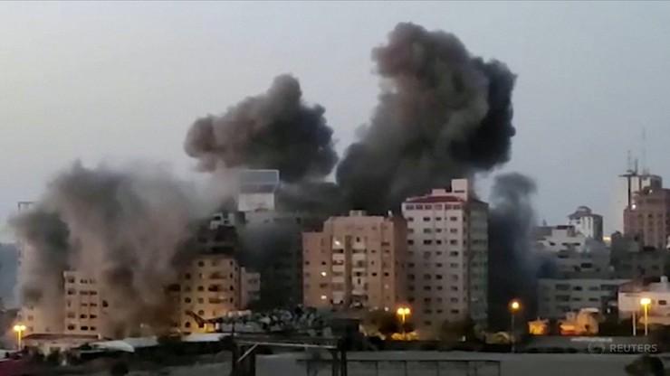 Runął wieżowiec w Gazie trafiony izraelską rakietą. Islamski Dżihad odpowiedział tym samym [WIDEO]