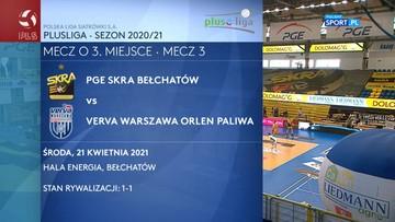 PGE Skra Bełchatów – Verva Warszawa Orlen Paliwa 0:3. Skrót meczu