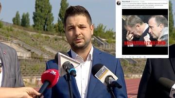Jaki chciał zażartować ze Schetyny i Tuska; do mema użyto zdjęcia z pogrzebu ofiary smoleńskiej