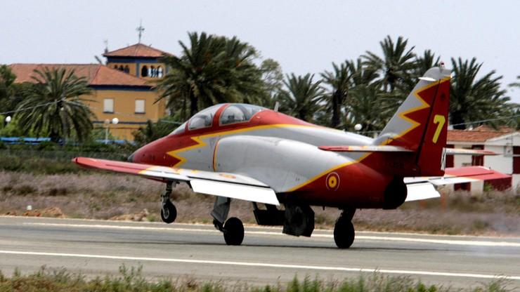 Hiszpania: odrzutowiec spadł do morza. Pilot zginął, mimo katapultowania się