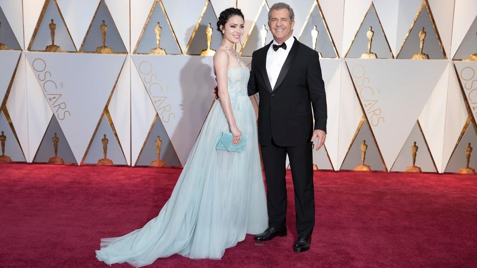 Mel Gibson i Rosalind Ross na gali rozdania Oskarów