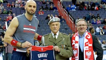 Marcin Gortat uhonorował weteranów. Prezydent podziękował mu za promocję Polski