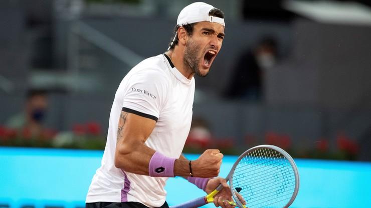 ATP w Madrycie: Matteo Berrettini rywalem Alexandra Zvereva w finale