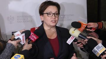 Zalewska: nikt nie stracił pracy w wyniku reformy edukacji