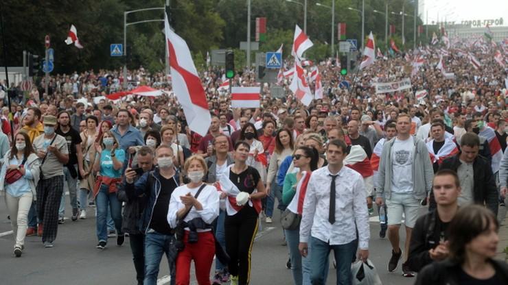 Protesty na Białorusi. Zatrzymano ponad 600 osób