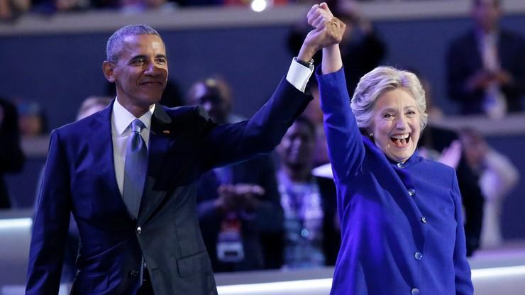 """Obama popiera Clinton jako swoją następczynię i kontynuatorkę """"odwagi nadziei"""""""