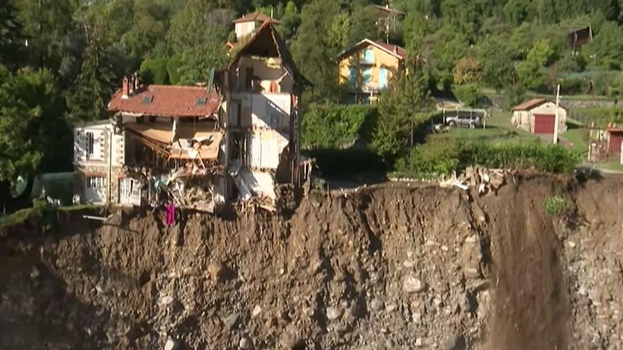 Osunięcia ziemi na Lazurowym Wybrzeżu we Francji. Fot. Facebook / France 3.
