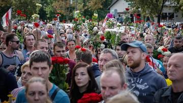 """Dzień pogrzebu ofiary protestów na Białorusi. """"Nie wybaczymy"""""""