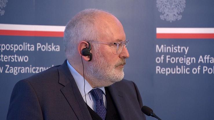 Źródła unijne: w przyszłym tygodniu możliwa wizyta Timmermansa w Polsce