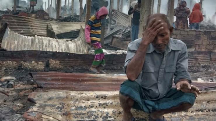 Bangladesz: stracili wszystko. Wielki pożar w obozie dla uchodźców