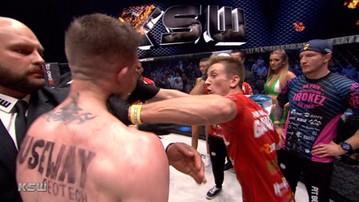KSW 40: Parke odepchnął Mańkowskiego i... został zaatakowany! (WIDEO)