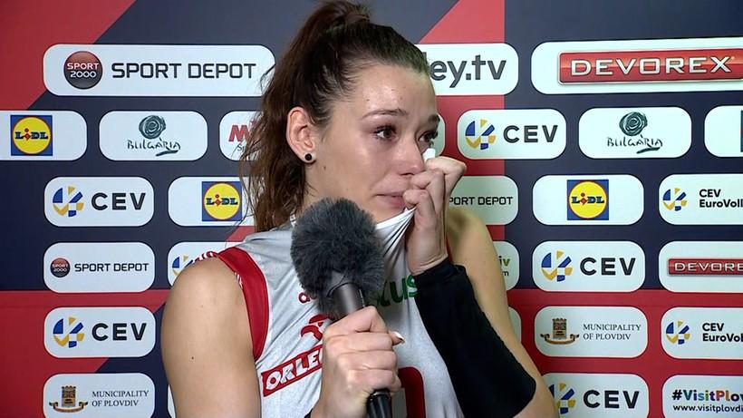 Polska siatkarka nie kryła łez po odpadnięciu z mistrzostw Europy (WIDEO)