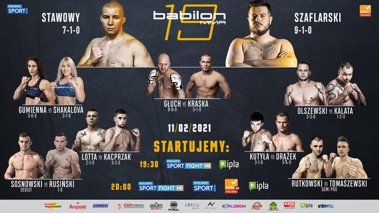 Ważenie przed galą Babilon MMA 19 w Polsacie Sport News i na Polsatsport.pl