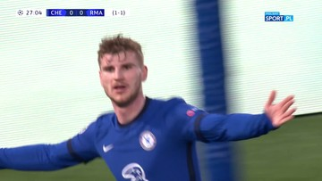 Chelsea - Real Madryt 1:0. Gol Timo Wernera