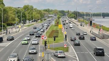 Wypadek na Wisłostradzie w Warszawie. Trasa jest zablokowana
