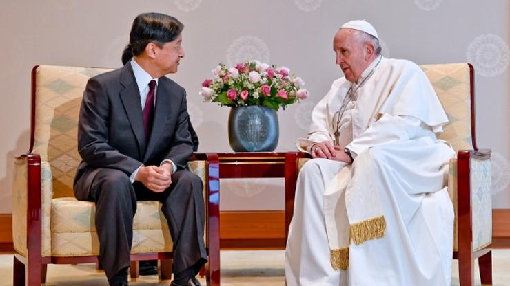 Papież Franciszek odwiedził cesarza Japonii