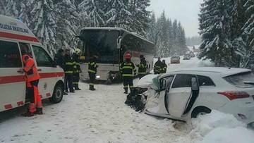Wypadek polskiego autokaru na Słowacji. Na pokładzie było 47 dzieci
