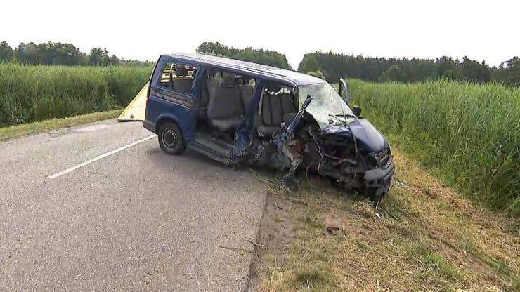 Wygoda: wypadek busa. 10 osób trafiło do szpitala